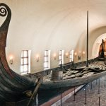 Viking ship, Oseberg, a 9th century burial ship, Vikingskiphuset (Viking Ship Museum), Bygdoy peninsula, Oslo, Norway, Scandinavia, Europe