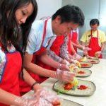kimchi making session