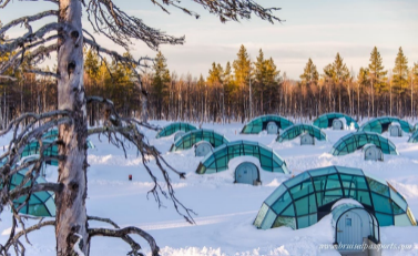 A lifetime experience to spend a night in the unique Glass Igloo!